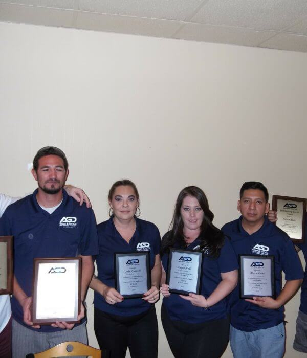 AGD Auto Glass and Tint Tempe Shop Employee Recognition
